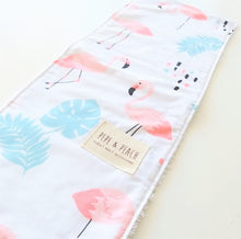Load image into Gallery viewer, Burp Cloth - Flamingo