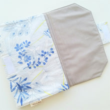 Load image into Gallery viewer, Baby Change Mat -  Blue Leaves
