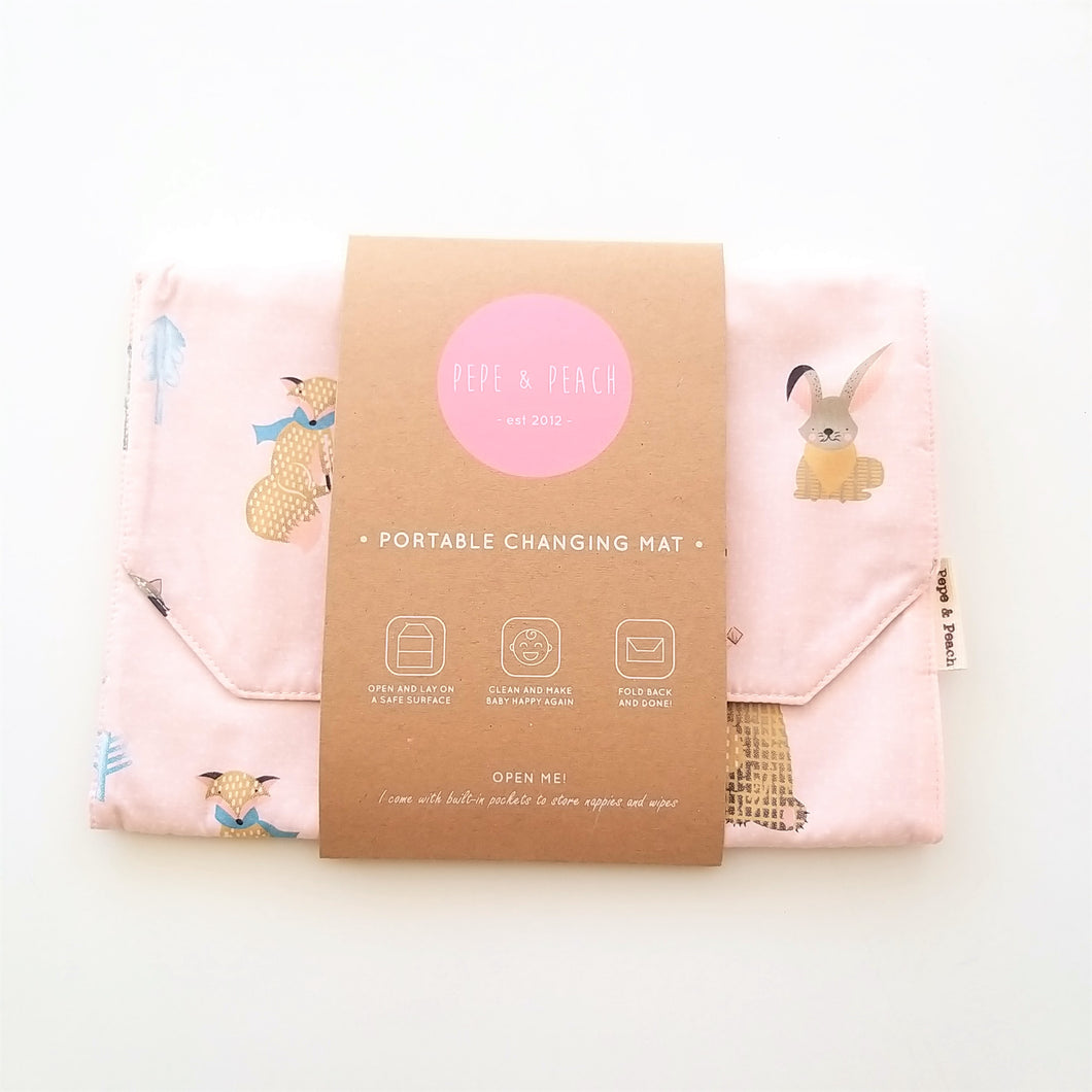 Baby Change Mat - Winter in Pink