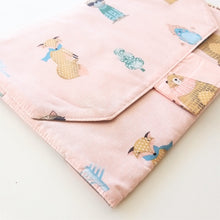 Load image into Gallery viewer, Baby Change Mat - Winter in Pink