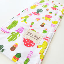 Load image into Gallery viewer, Burp Cloth - Cactus in Blue or White