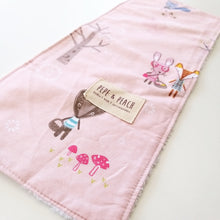 Load image into Gallery viewer, Burp Cloth - Dusty Pink Forest