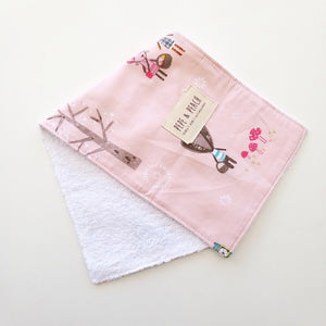 Burp Cloth - Dusty Pink Forest