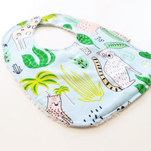 Load image into Gallery viewer, Baby Bib - Blue Jungle