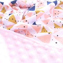 Load image into Gallery viewer, Baby Blanket - Mustard Peach Triangles