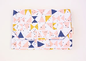 Change Mat - Mustard Peach Triangles