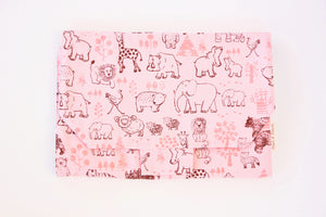 Change Mat - Safari Animals in Pink