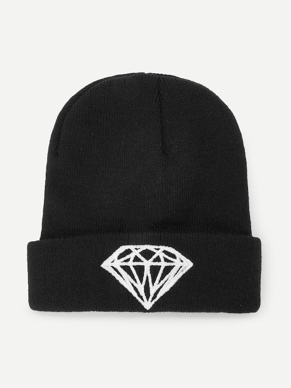 da6a8488aa1 Embroidered Diamond Beanie Hat – latenightpink.com