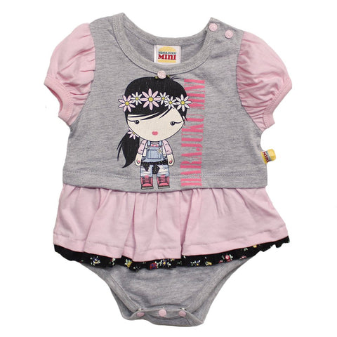 Infant Pink/Grey Character Onesie