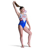 Patriot Sleeveless Leotard - Red, White & Blue