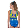 Aerie Sleeveless Leotard - Royal/Lime