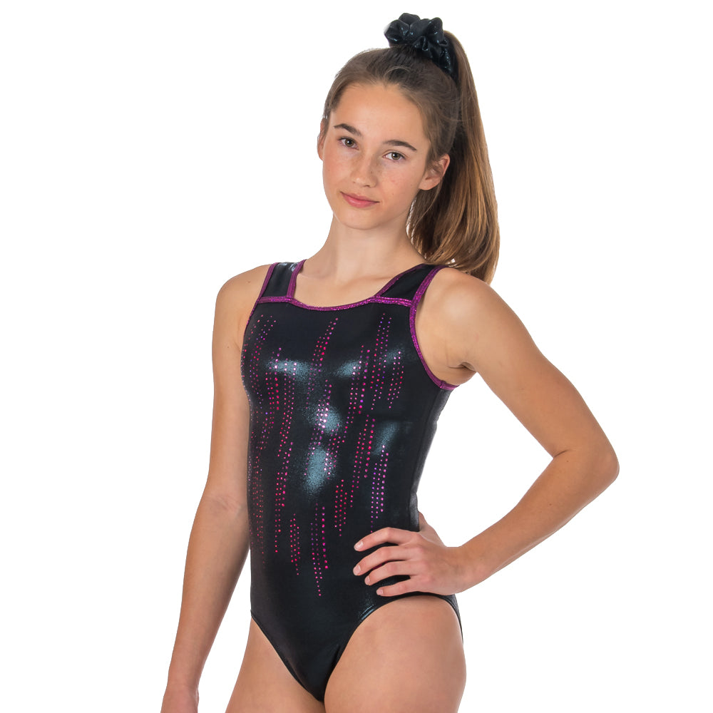 Pak-X Sleeveless Leotard - Black