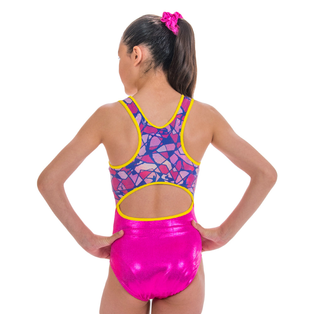 Poutre Sleeveless Leotard - Berry Fuchsia