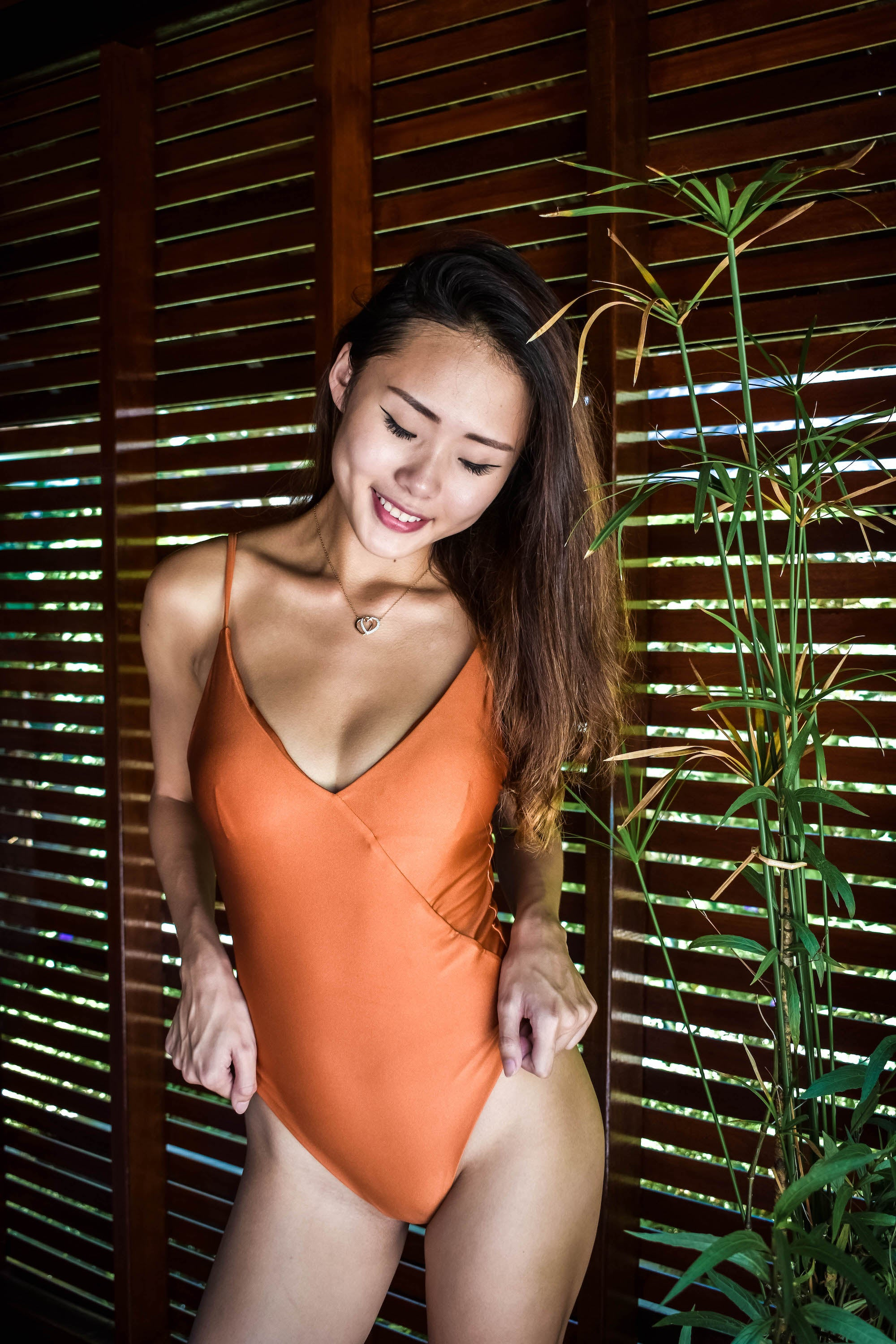 Gili Monokini in Burnt Tangerine