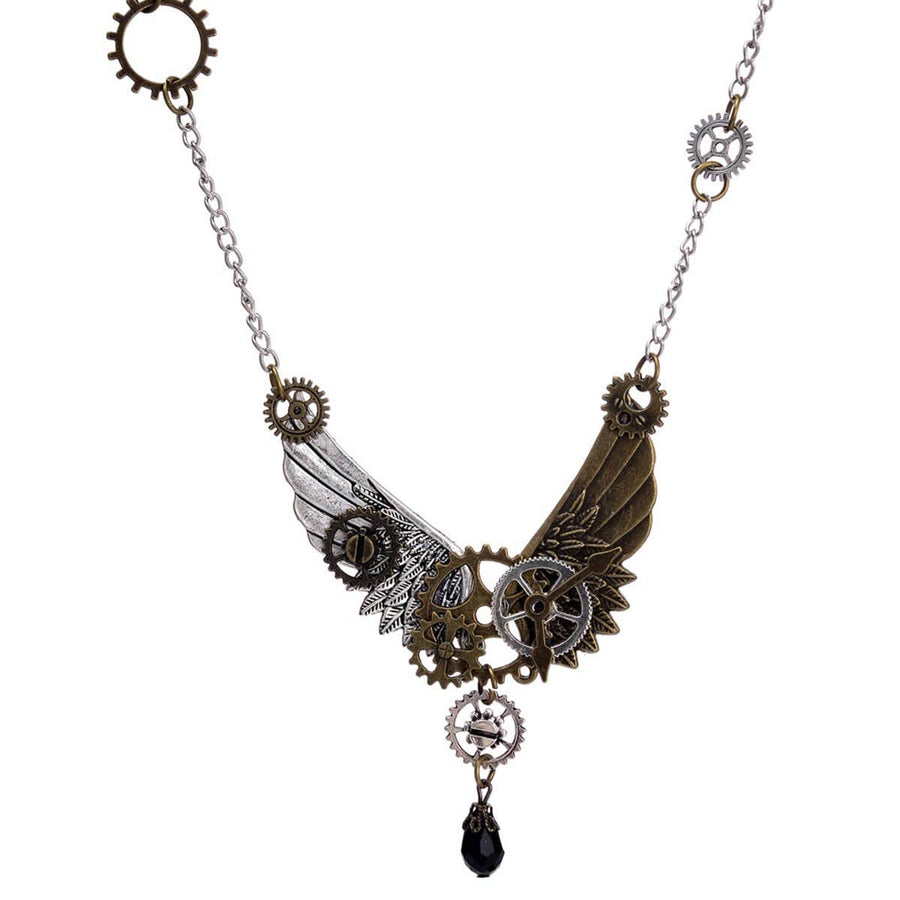 Steampunk Wings Necklace