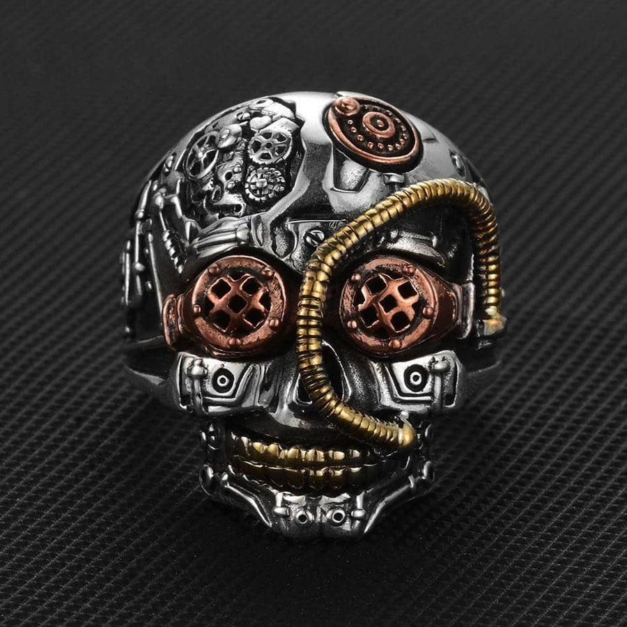 Steampunk Skull Rings