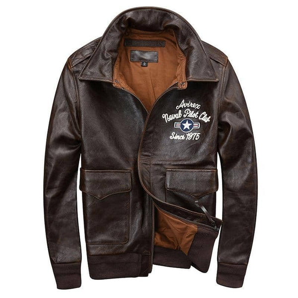 """HENDRIX"" - Genuine Leather Pilot Jacket"
