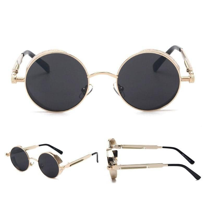 """TRAP KING"" - Round Frame Sunglasses"
