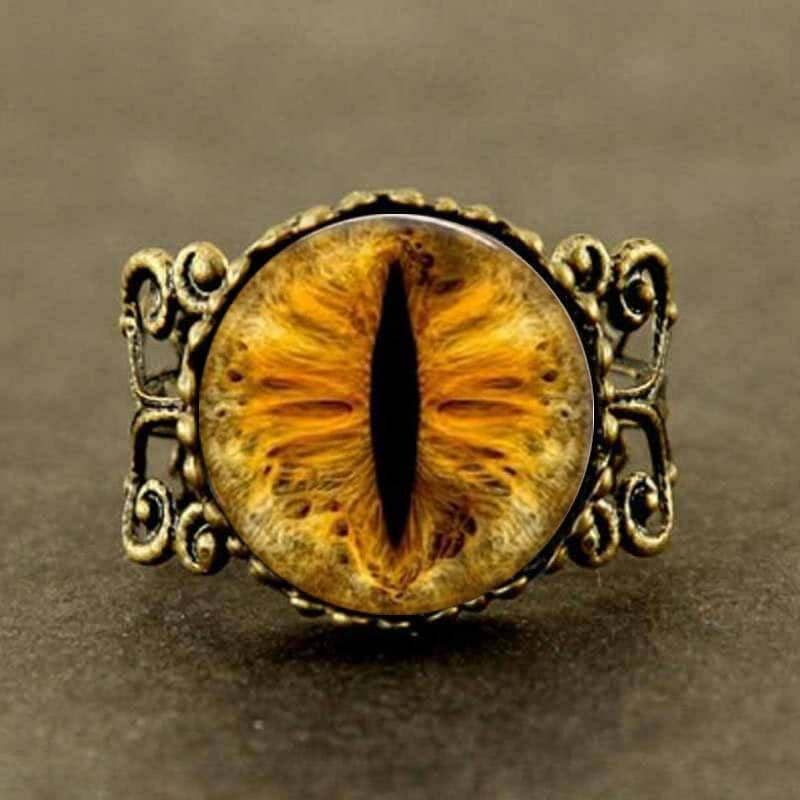 Steampunk Dragon Eye Ring