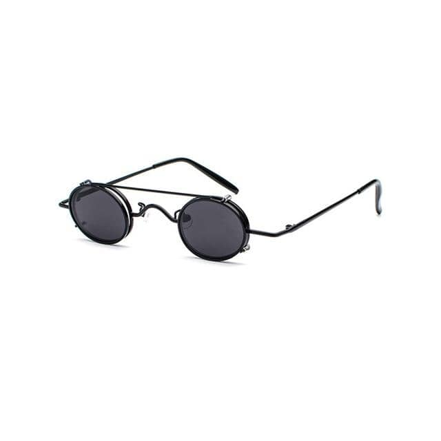 'BLINDER' - Hand Crafted Small Round Clip on Sunglasses