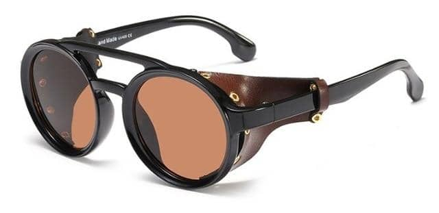 'CHOPPER'  - Retro Round Frame Sunglasses