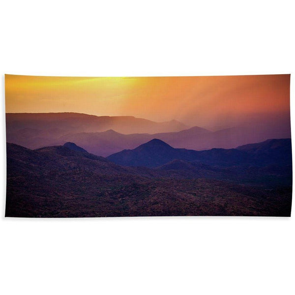 Rain Over Black Canyon - Beach Towel