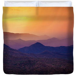 Rain Over Black Canyon | Duvet Cover