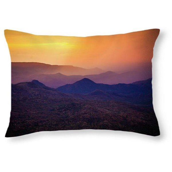 Rain Over Black Canyon | Throw Pillow
