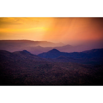 Rain Over Black Canyon | Metallic Print