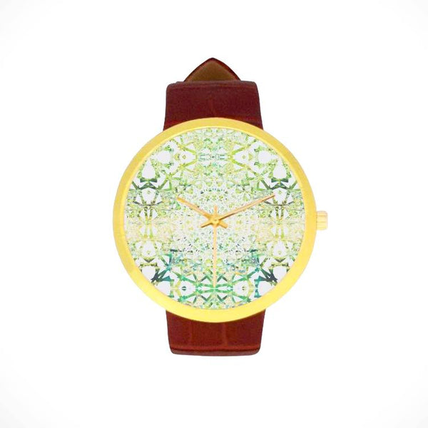 Earth Mandala | Leather Strap Watch