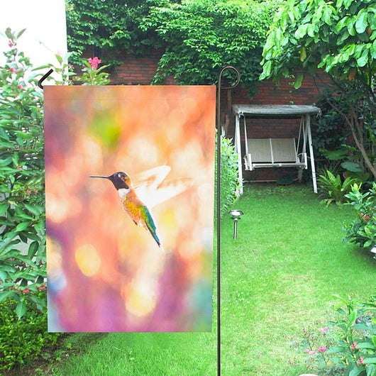 Hummingbird in Flight | 28''x40'' Garden Flag (Without Flagpole)