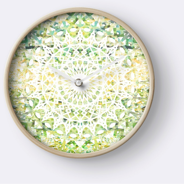 Earth Mandala | Wall Clock