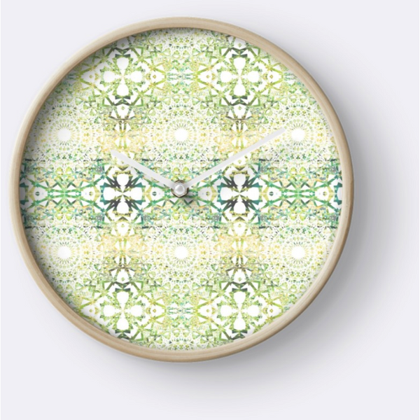 Earth Mandala Sequence | Wall Clock
