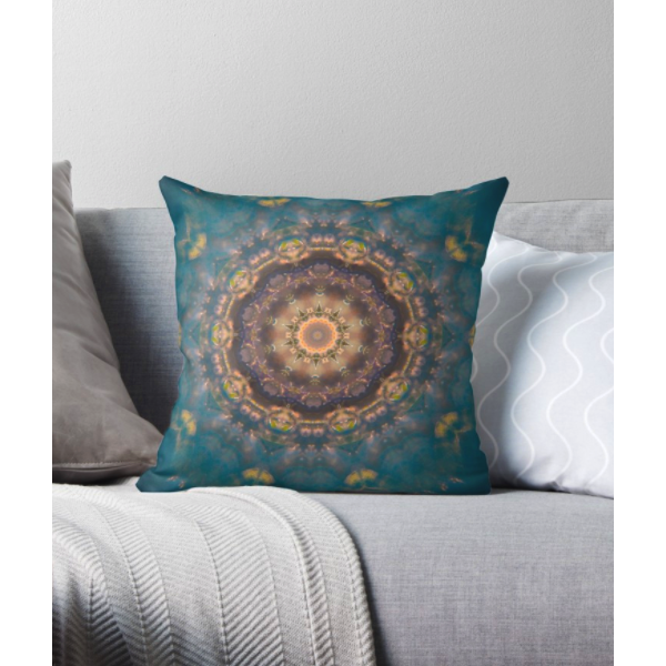 River Mandala | Throw Pillow