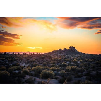 Papago Sunset | Metallic Print