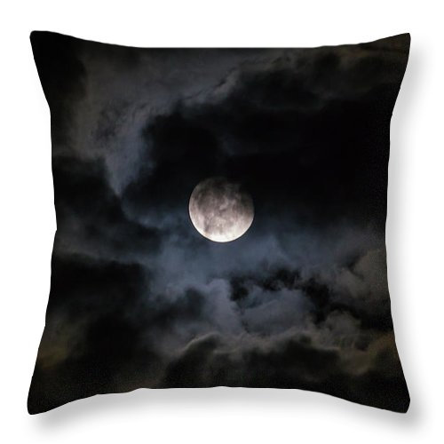 Midnight Clouds - Throw Pillow