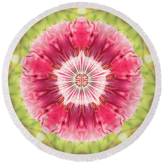Secret Garden - Round Beach Towel