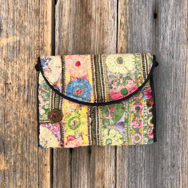 Aditi Embroidered Purse - Brighton Beach Boho