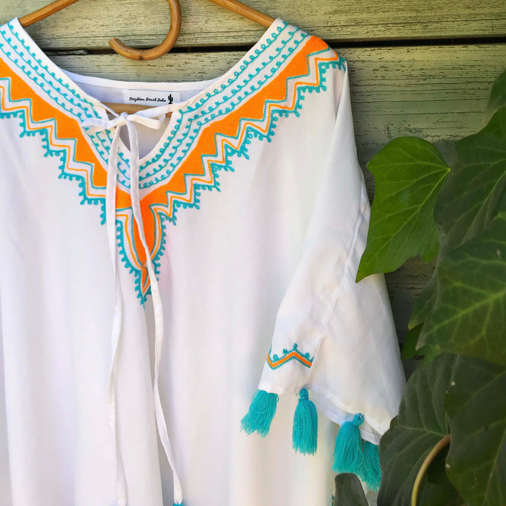 Anjali Embroidered Kaftan - Brighton Beach Boho