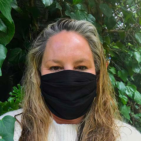 Black Cotton Face Mask - Small Adult/Teen