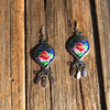 Midnight Fabric Dangles - Brighton Beach Boho