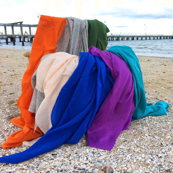 Coloured Goat's Wool Scarf - Brighton Beach Boho