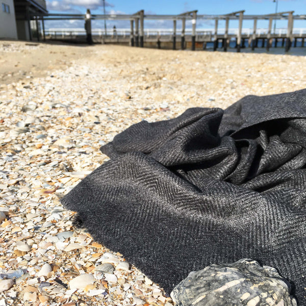 Ash Goat's Wool Shawl - Brighton Beach Boho
