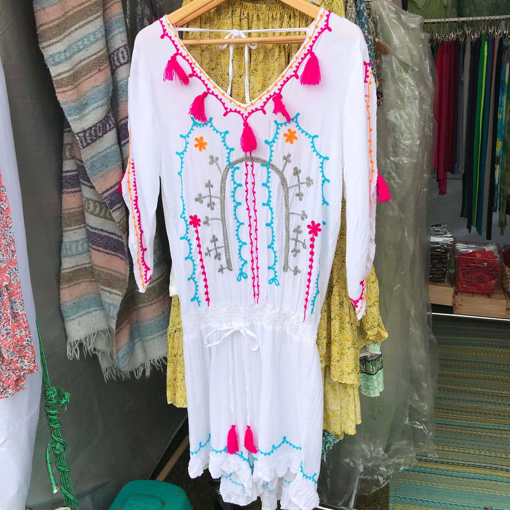 Matilda Embroidered Playsuit - Brighton Beach Boho