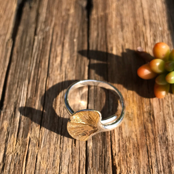Gingko Leaf Ring - Brighton Beach Boho