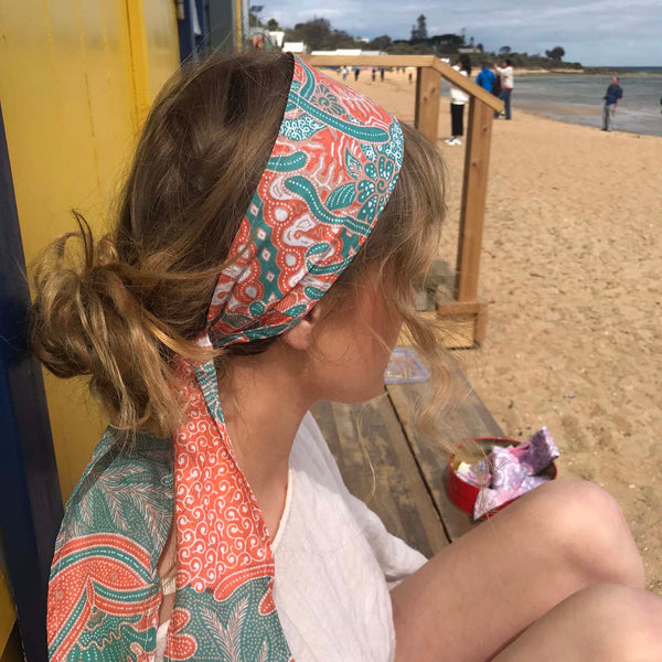 Orange Headwrap - Brighton Beach Boho