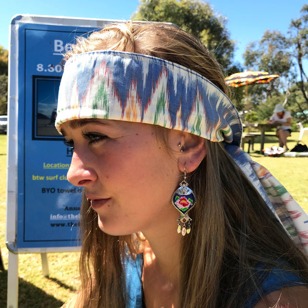 White Headwrap - Brighton Beach Boho