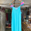 Turquoise Embroidered Mini Dress - Brighton Beach Boho