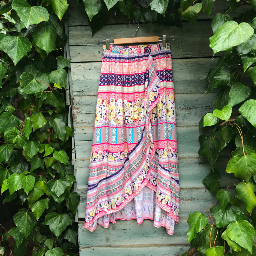 Melody Wrap Skirt - Brighton Beach Boho