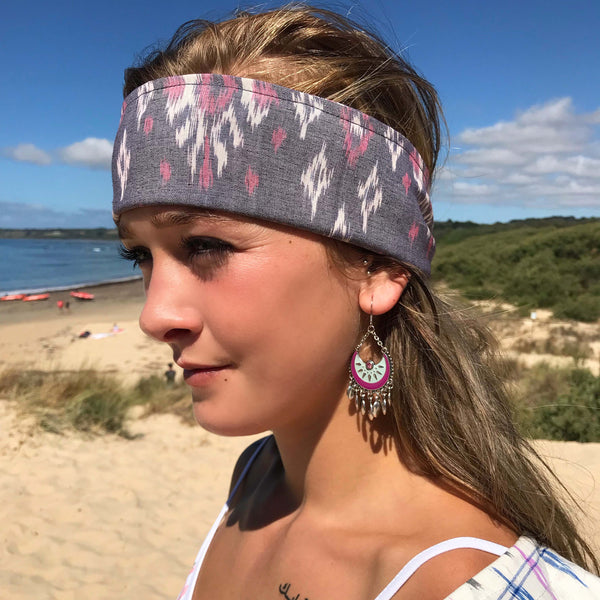 Mint Magenta Hoops - Brighton Beach Boho